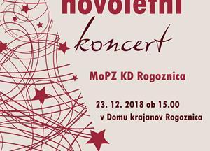 Vabilo na božično-novoletni koncert MoPZ KD Rogoznica